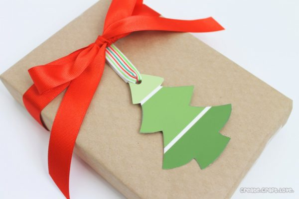Create Craft Love paint chip gift tags