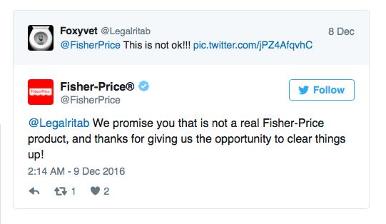 Fisher Price fake play set