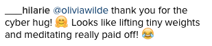 Olivia Wilde Instagram comment