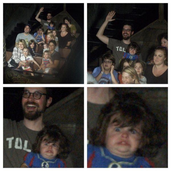 Poppy's terrified face on Frozen ride