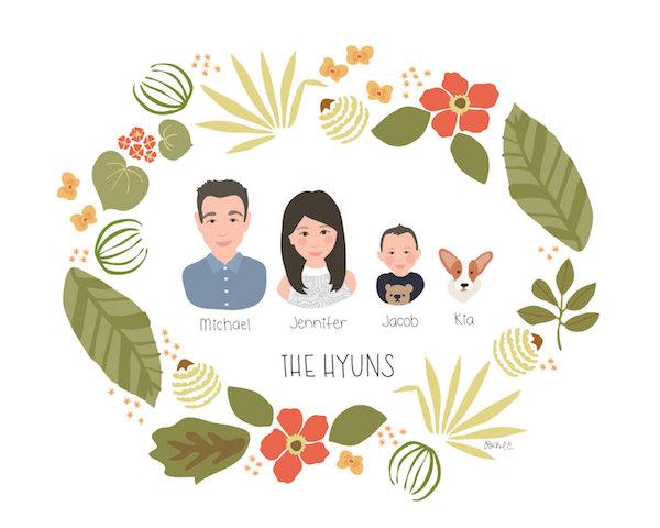 CitrusandMintGifts family portrait