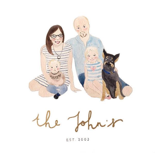 Anna Spilsbury Design family portrait