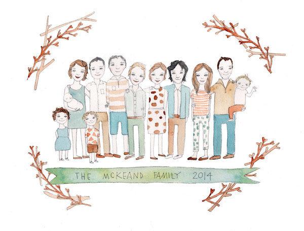 Jesses Mess family portrait