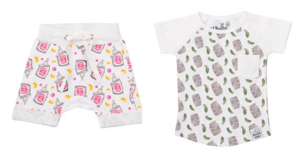 Lil Baddits shorts and tee