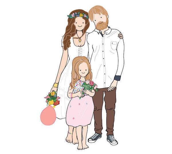 mossy rocket custom family portrait