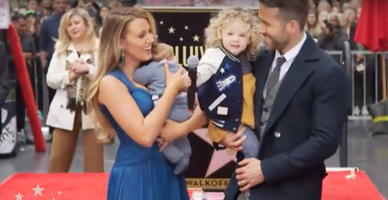 Ryan Reynolds and Blake Lively with their kids