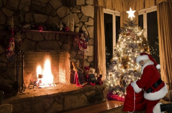 Santa in your house photo