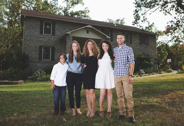 Cara Brookins and family