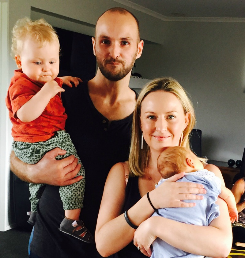 Family with Two babies born 10 months apart