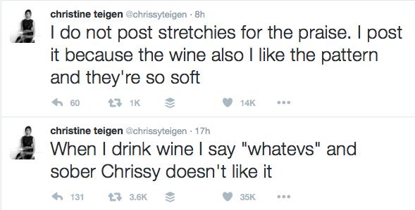Chrissy Teigen Twitter