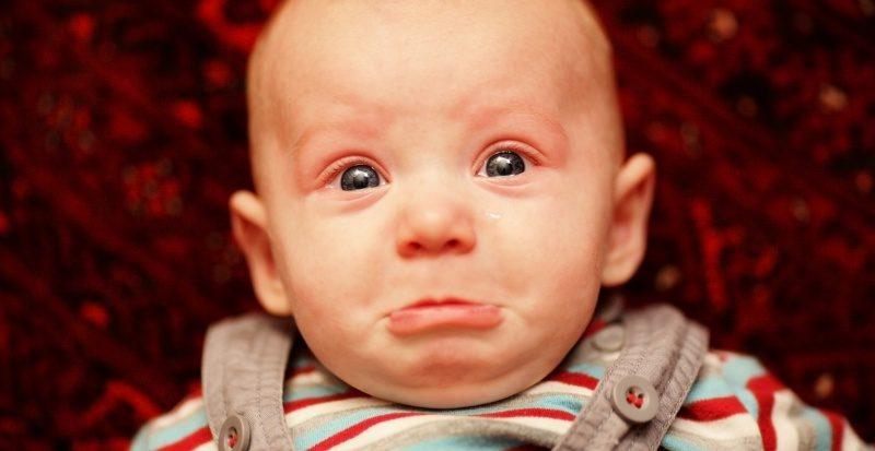 Sad baby is sad