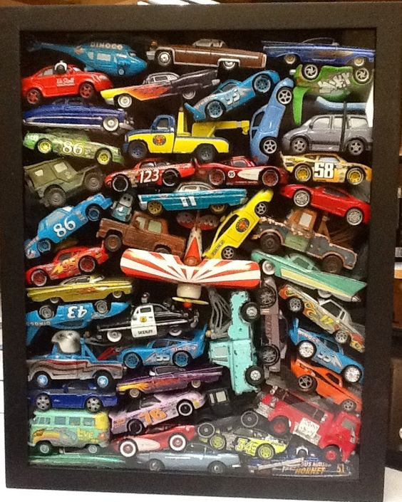 matchbox car shadowbox