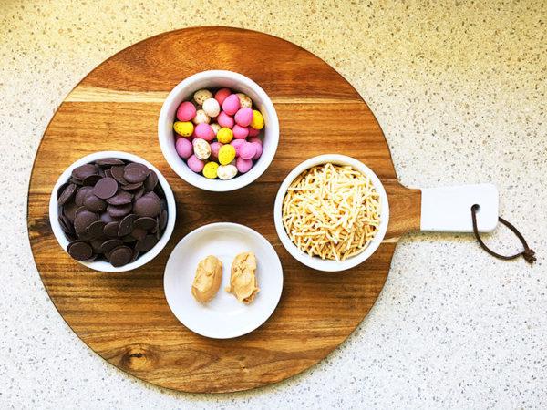 No bake, delicious Easter egg nest recipe