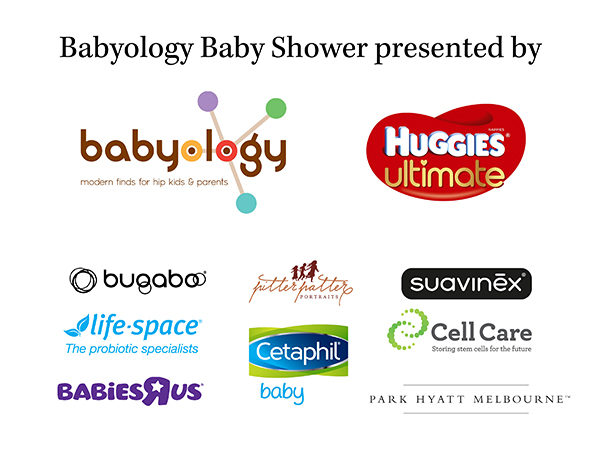 Melbourne baby shower sponsor logos