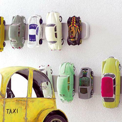 Magnetic strip car storage