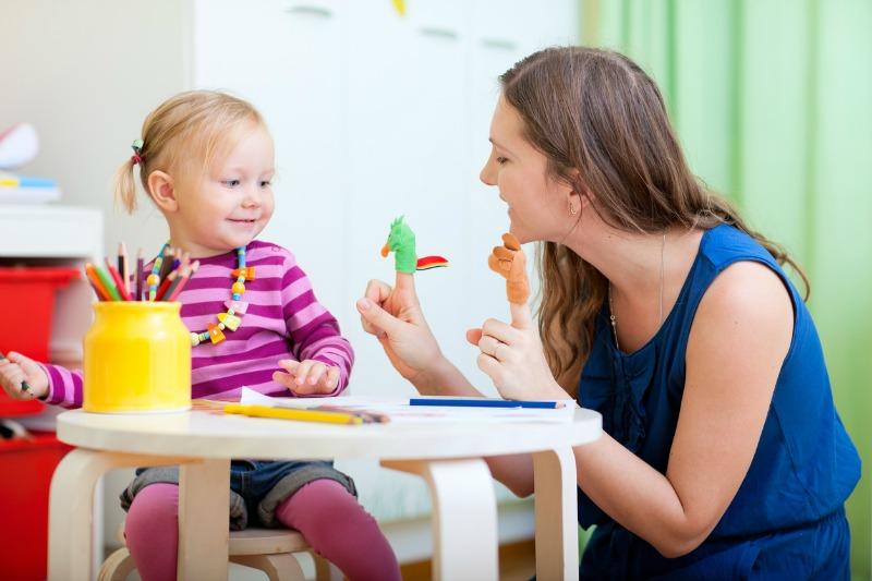 babysitting enjoying time with happy girl