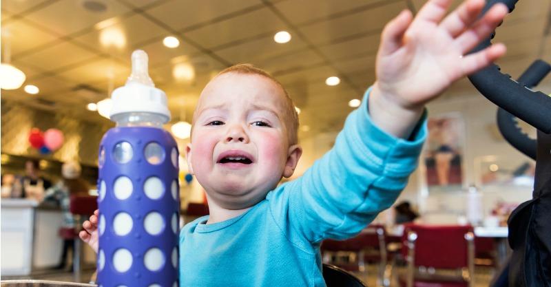 toddler tantrum about food