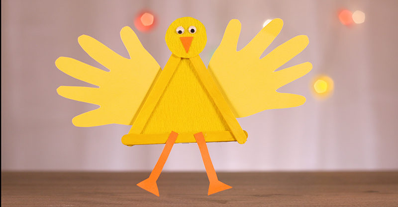 Popsicle Easter chicken craft