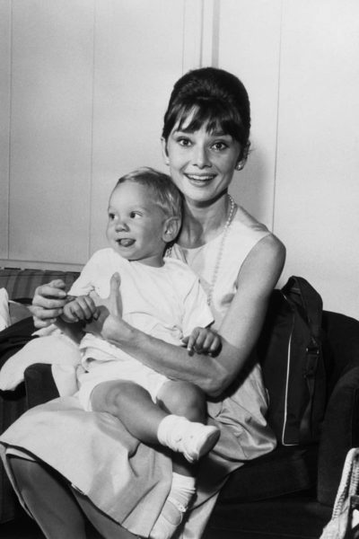 Audrey Hepburn and son