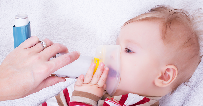 baby with asthma