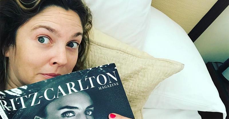 Drew Barrymore at the Ritz Carlton