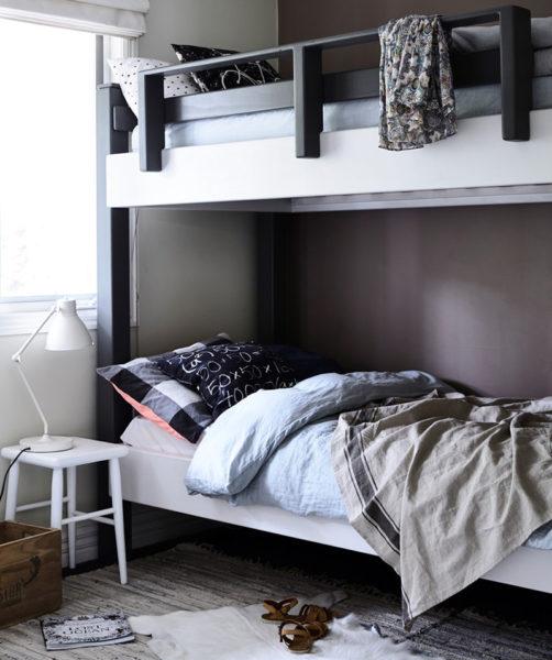 bed, bunk bed, linen, lamp, bedroom, kids