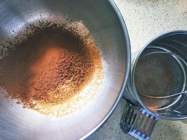 chocolate, pudding, recipe, step 1