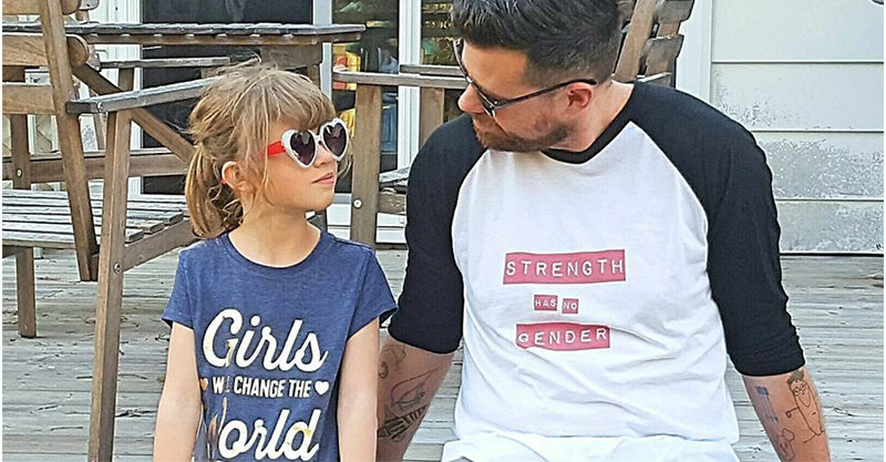 Blogger EverydayGirl Dad with his daughter