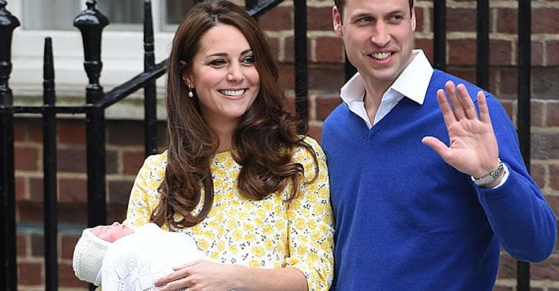 Duchess Kate and Prince William with Baby Charlotte