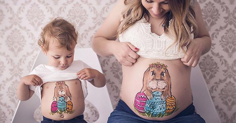 painted pregnant bellies