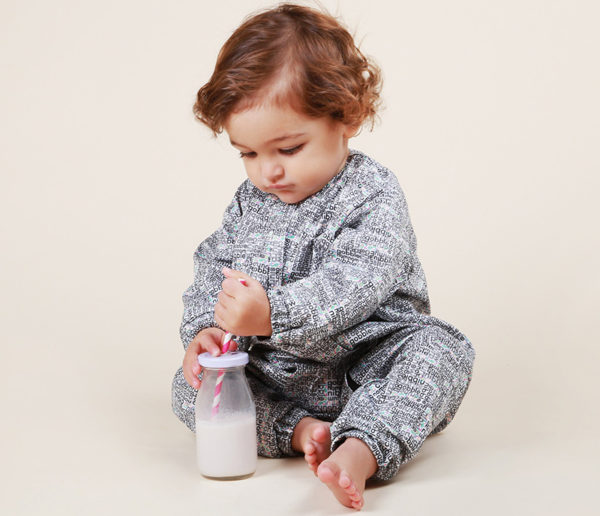 toddler with drink