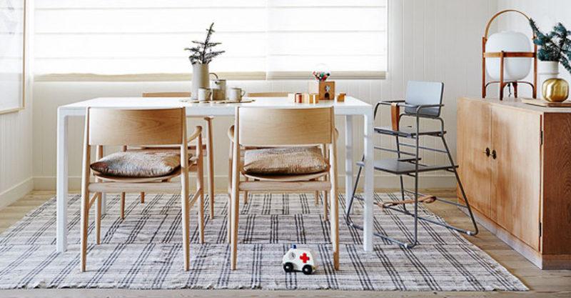 high chair, family table
