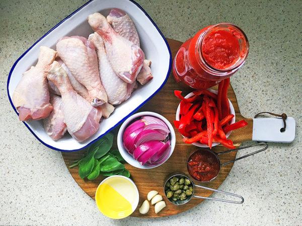 ingredients for mediterranean chicken bake