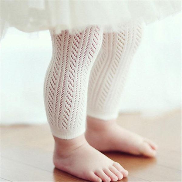 toddler wearing footless tights