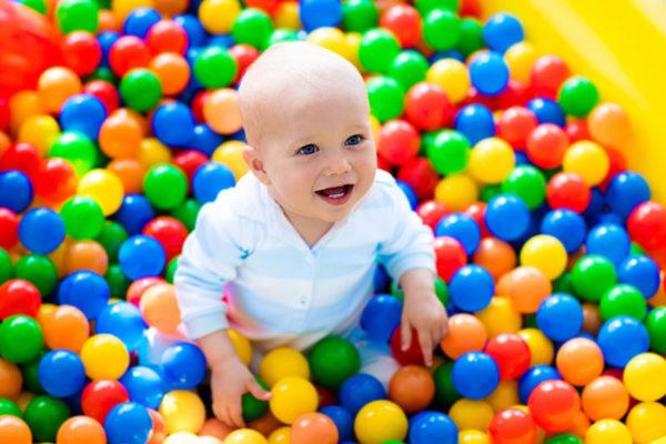baby, ball pit, fun
