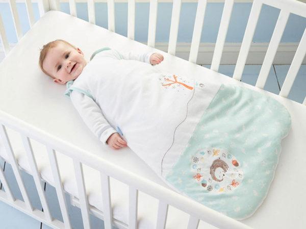 baby in grobag sleeping bag