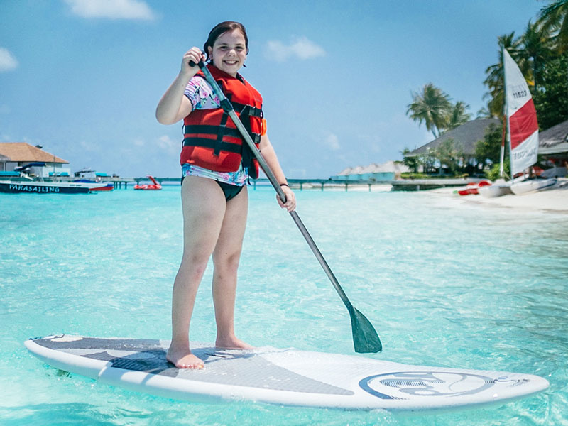 Water activities in the Maldives