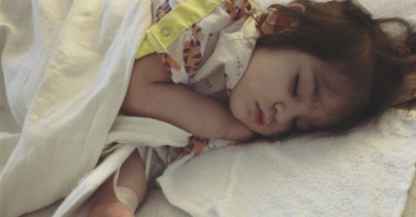 Margaret Ellen Bradford's daughter Harper in hospital