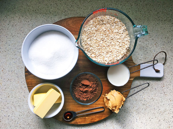 no bake choc oat biscuits recipe ingredients