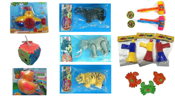 Various recalled toys from Dasio Stores