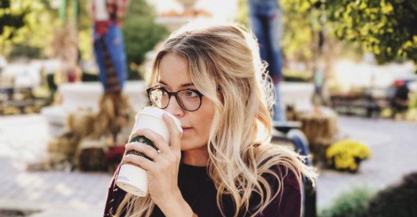 woman mum drinking coffee