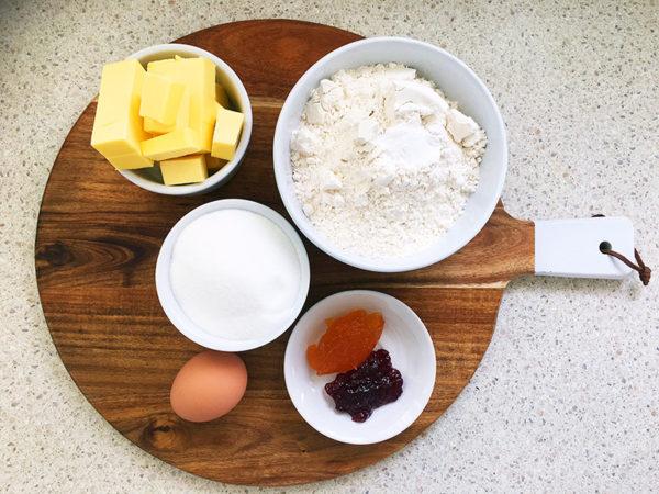 jam drop biscuits ingredients