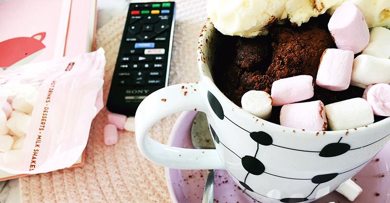 Quick microwave chocolate mug cake recipe