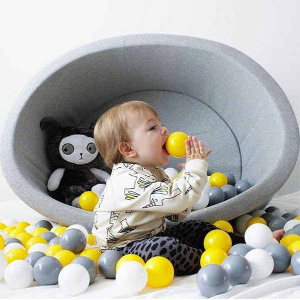 ball pit, toys, child, balls