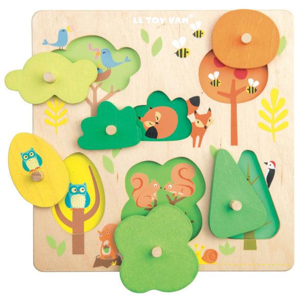 woodlands, puzzle, peg
