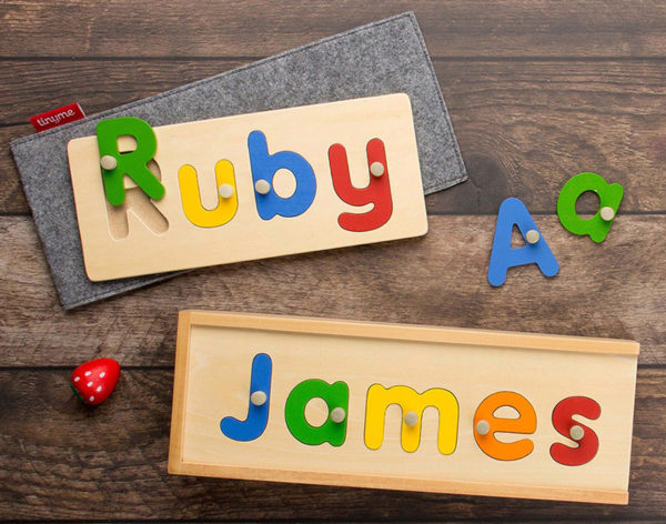 name puzzle, toy
