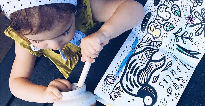 child, paint, book