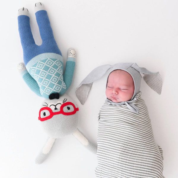 baby, sleeping, doll, bunny