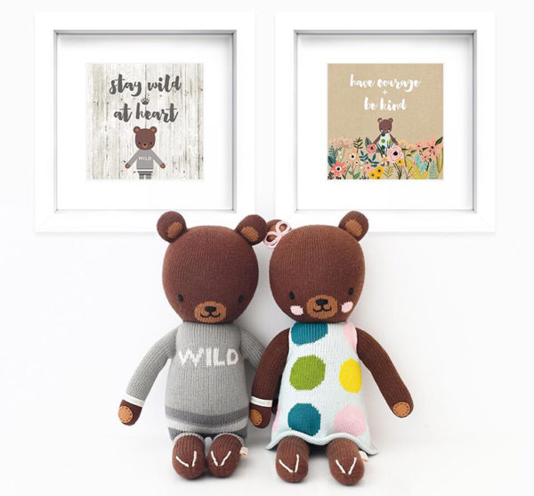 doll, teddy, wall art