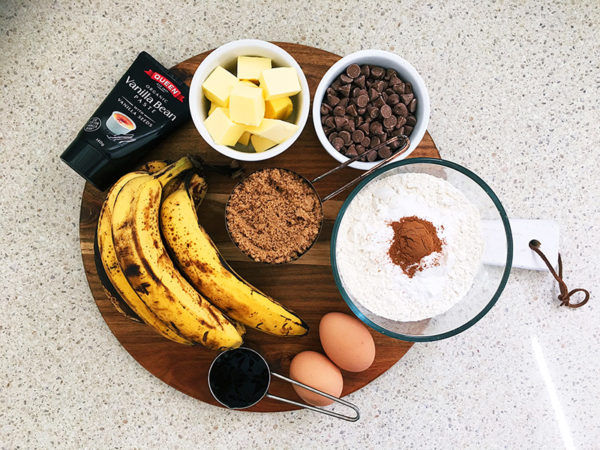 banana and choc chip loaf recipe ingredients